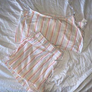 Calvin Klein Colored Striped Pajama Set